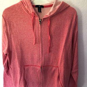 Gap red heather zip-up-hoodie